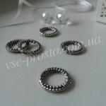 БУСИНА МЕТАЛЛИЧЕСКАЯ, кольцо узор, серебристая, 17mm