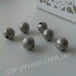 БУСИНА МЕТАЛЛИЧЕСКАЯ, круглая, серебристая, 6mm