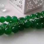 НЕФРИТ, БУСИНЫ ИЗ НАТУРАЛЬНОГО КАМНЯ, круглые, зеленые, 8mm (низка)