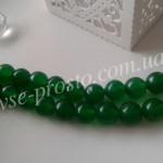 НЕФРИТ, БУСИНЫ ИЗ НАТУРАЛЬНОГО КАМНЯ, круглые, зеленые, 8mm (шт)