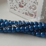 Жемчуг синий №034, низка (200 шт.), 4мм