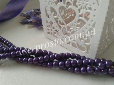 Жемчуг фиолетовый №073, низка (200 шт.), 4мм