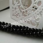 Жемчуг черный №040, низка (200 шт.), 4мм