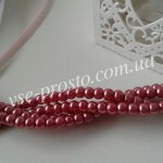Жемчуг розовый (пыльная роза) №014, низка (200 шт.), 4мм
