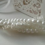 Жемчуг белый №001, низка (200 шт.), 4мм