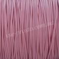 ШНУР ХЛОПКОВЫЙ ВОЩЕНЫЙ, с восковой оплеткой, розовый, 1mm