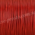 ШНУР ХЛОПКОВЫЙ ВОЩЕНЫЙ, с восковой оплеткой, красный, 1mm