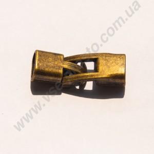 ЗАСТЕЖКА-ТОГЛ МЕТАЛЛИЧЕСКАЯ, античная бронза,  24x12mm 21x12mm